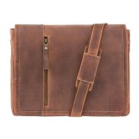 "Visconti Foster ( Oil Tan )   -   13.3"" Laptop Bag / Leather String Bag"